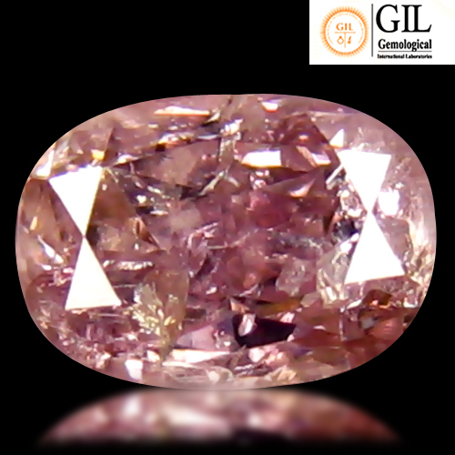 DD118 Certified Oval 0.24ct 4x2.9x2.3mm Natural Unheated Untreated Pink Diamond, Africa