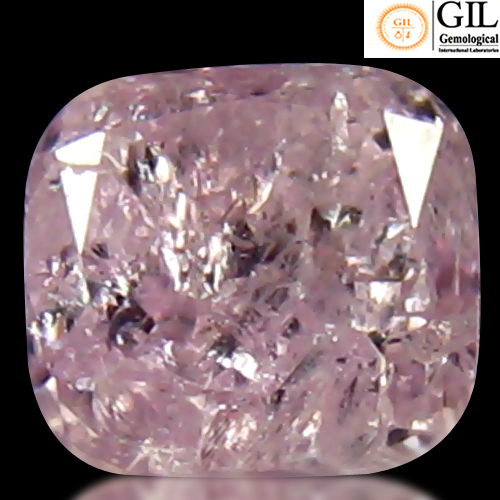 DD119 Certified Cushion 0.28ct 3.53x3.19x2.50mm Natural Unheated Untreated Pink Diamond, Africa
