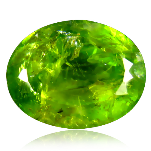 PD788 Oval 14.49ct 15x13mm Natural Unheated Untreated Green Peridot Pakistan