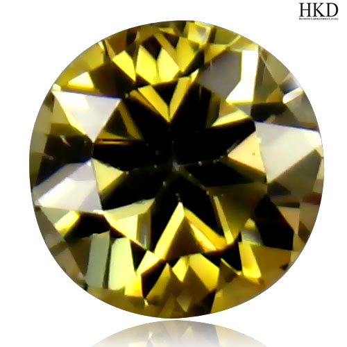 TZ296 Certified Round 0.58ct 5mm Natural Unheated Untreated Yellow TANZANITE Tanzania Good Luster