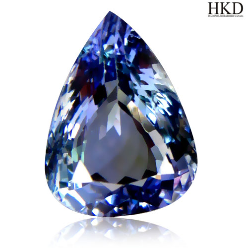 TZ138 Certified VVS Pear 2.67ct 10x7.9mm Natural Bluish Violet Tanzanite Tanzania