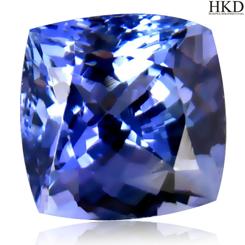"TZ115 Certified Cushion 2.19ct Natural Bluish Violet ""D"" Block TANZANITE Tanzania"