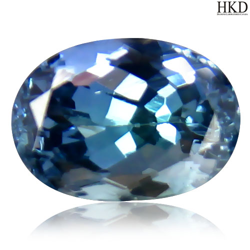 TZ107 Certified Oval 1.64ct 8x5.6mm Natural Bluish Violet TANZANITE Tanzania