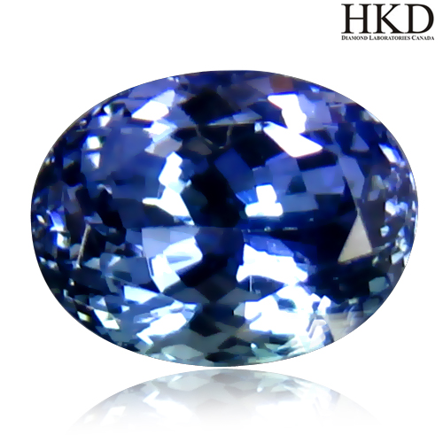 TZ150 Certified VVS Oval 2.20ct 8X6.3mm Natural Bluish Violet TANZANITE Tanzania