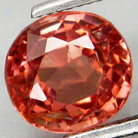 [YZ580] Oval 1.15ct 7.9x7.3mm Rare Color Natural Imperial Padparadsha Spinel Tanzania