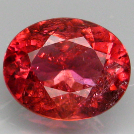 [YZ791] Oval 2.63ct 10x8.2mm Natural Padparadscha Color Tourmaline, Good Luster