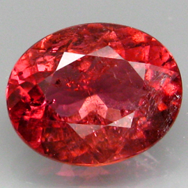 YZ791 Oval 2.63ct 10x8.2mm Natural Padparadscha Color Tourmaline, Good Luster