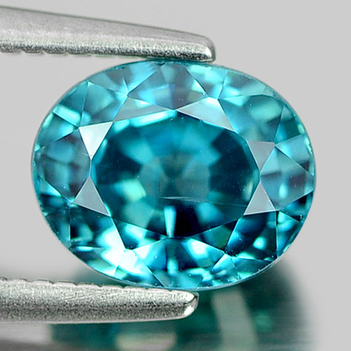 ZN015 VS Good Cutting Oval 7.4x6mm 2.37ct Natural Blue Zircon Cambodia