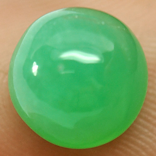 CH005 Round Cabochon 8.6X8.6mm Natural Green Chalcedony Namibia 2.84Ct