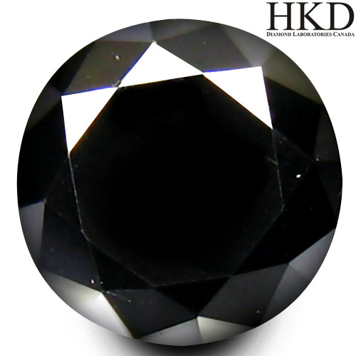 DD110 Certified Round Brilliant Cut 4.9mm 0.75ct Natural Fancy Black Diamond