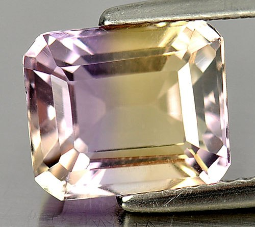 AE199 VS Octagon 3.79ct 9.7x8.2mm Natural Unheated Bi Color Ametrine Bolivia