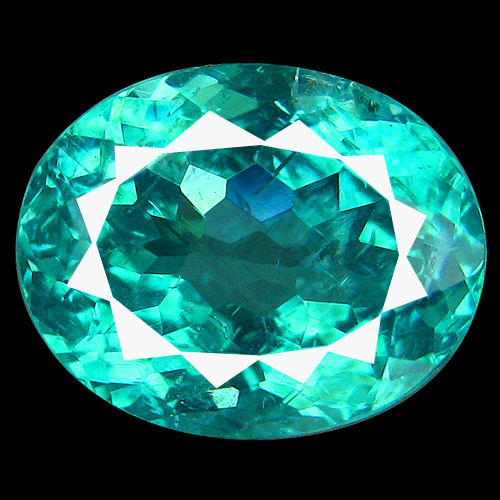 AP006 Oval 2.07ct 8.5x6.8mm Natural Paraiba Neon Blue APATITE Brazil Flashing Full Fire