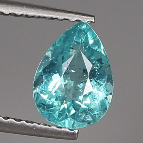 AP096 Pear Cut 1.00ct 7.7x5.7mm Natural Unheated Blue APATITE Madagaskar