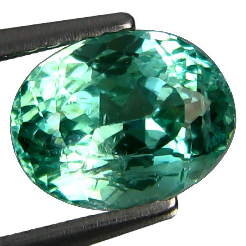 AP098 Oval 2.44ct 9x7mm Natural Paraiba Green APATITE Brazil