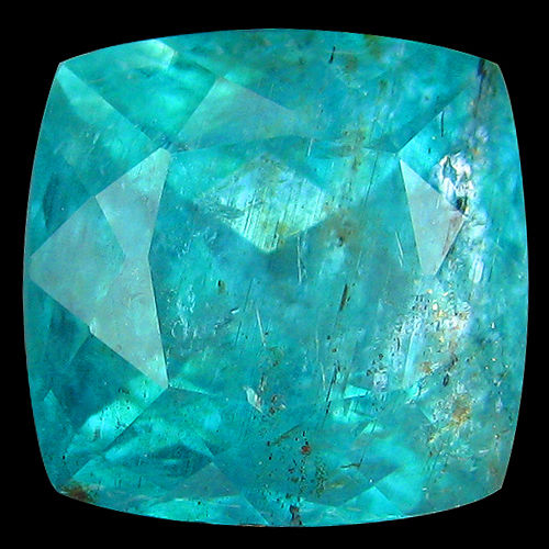AP099 Cushion Cut 2.67ct 8x7.8mm Natural Paraiba Neon Blue APATITE Good Luster