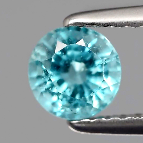 AP101 Round 0.70ct 5.2mm Natural Neon Blue (Paraiba-Color) APATITE Good Luster