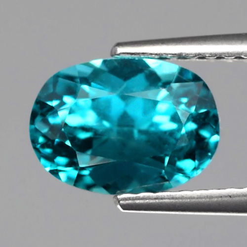 [AP103] Oval 8.5x6.2mm 2.07ct Natural Untreated Paraiba-Color Neon Blue Apatite, Brazil