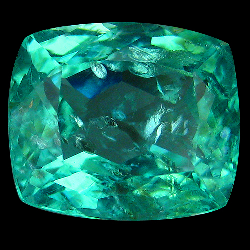 AP107 Cushion Cut 1.71ct 7.7x6.3mm Natural Paraiba Neon Green Apatite