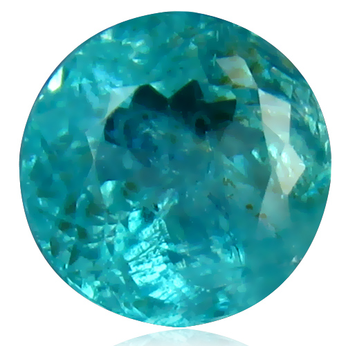 AP111 Round 7.8x7.7mm 2.08ct Natural Unheated Untreated Paraiba Blue Apatite Brazil
