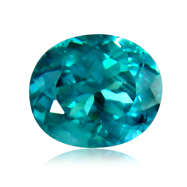 AP133 Certified Oval 2.95ct 9.5x8mm Natural Unheated Greenish Blue Apatite Madagaskar