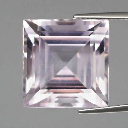 AT003 Certified Super Clean 20.90ct 15mm Square Natural Untreated Light Purple AMETHYST