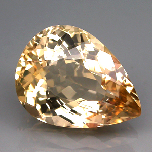 BL003 VVS Pear 4.36ct 13x10mm Natural Unheated Golden Yellow Beryl Brazil