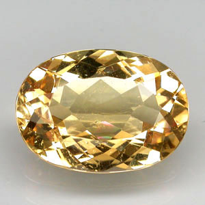 BL116 Oval 5.09ct 14x10x5.8mm Natural Unheated Golden Yellow Beryl, Brazil