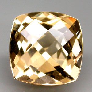 BL133 Clean Antique CheckerBord Cut 5.5ct 11x11x7.5mm Natural Unheated Golden Yellow Beryl, Brazil