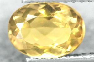 BL998 Natural Unheated Oval Canary yellow Beryl 1.06Ct