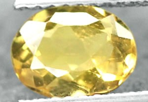 BL999 VVS Natural Unheated Oval rich Canary yellow Beryl 0.96Ct