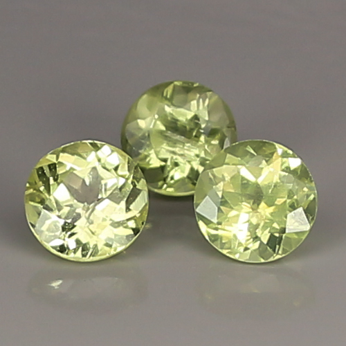 CB098 Lot 2.20ct Round 5mm Natural Unheated Untreated Yellow Chrysoberyl SriLanka