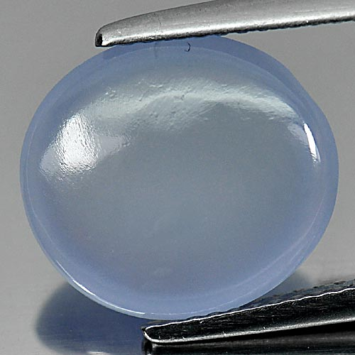 CH097 Oval Cabochon 5.53ct 13x11.7mm Natural Lavender Chalcedony From Russia