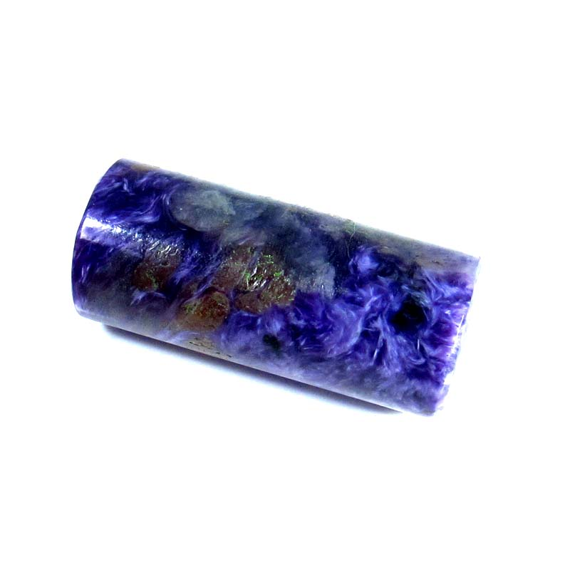 CR107 Pencil Cabochon 30.75ct 10x24mm Untreated Natural Royal Blue Purple Charoite, Russia