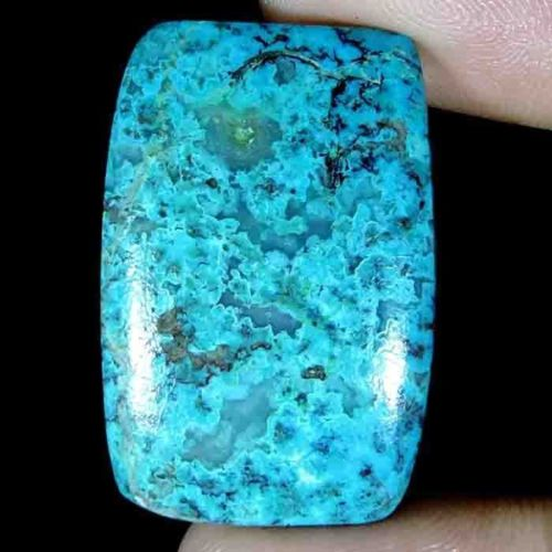 CS196 Cushion Cabochon 33ct 21x32x5mm Natural Unheated Crysocolla, Africa