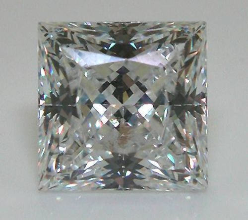 DD015 GIA Certified 0.26ct Princess Diamond Cut 3.7x3.6mm 0.26ct F Color Natural Diamond