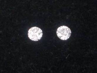 DD099 2 Loose Round cut Natural White Diamonds 2.0mm 0.08Tcw