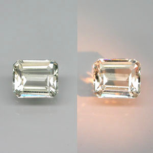 DP101 VS Emerald Cut 0.80ct 6x5x3mm Natural Color Change Diaspore, Turkey