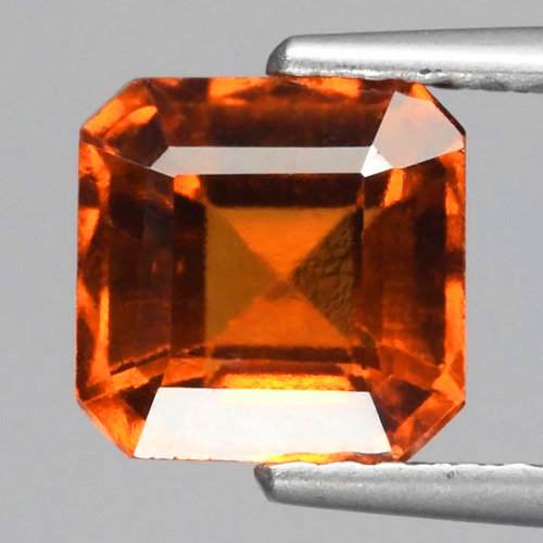 GH004 Octagon 2.23ct 7mm Natural Untreated Orange Hessonite Garnet