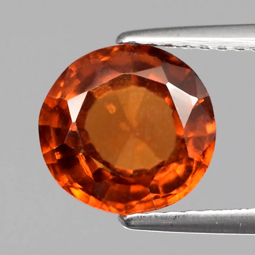 GH093 Oval 2.65ct 8.5x8mm Natural Untreated Reddish Orange Hessonite Garnet