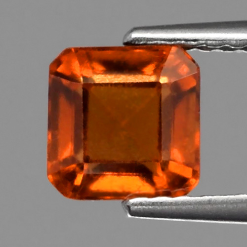 GH095 Octagon 1.70ct 6mm Natural Unheated Reddish Orange Hessonite Garnet
