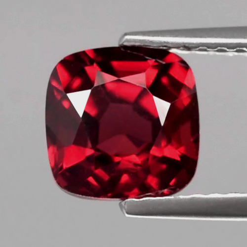 [GR107] Cushion 2.31ct 7x4.8mm Natural Unheated Medium Dark Purplish Red Rhodolite Garnet, Madagascar