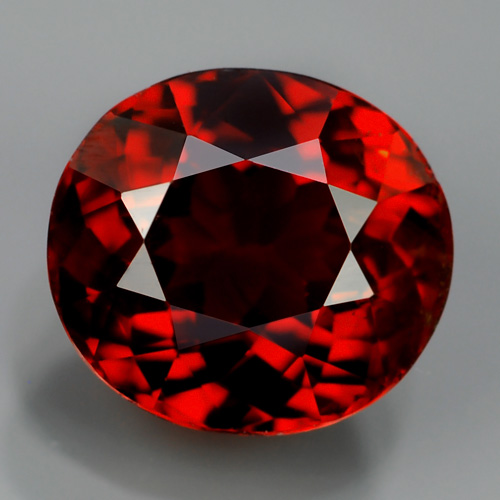 GS001 Oval 2.34Ct 7.5x7mm Deep Reddish Orange Unheated Natural SPESSARTITE GARNET, Namibia