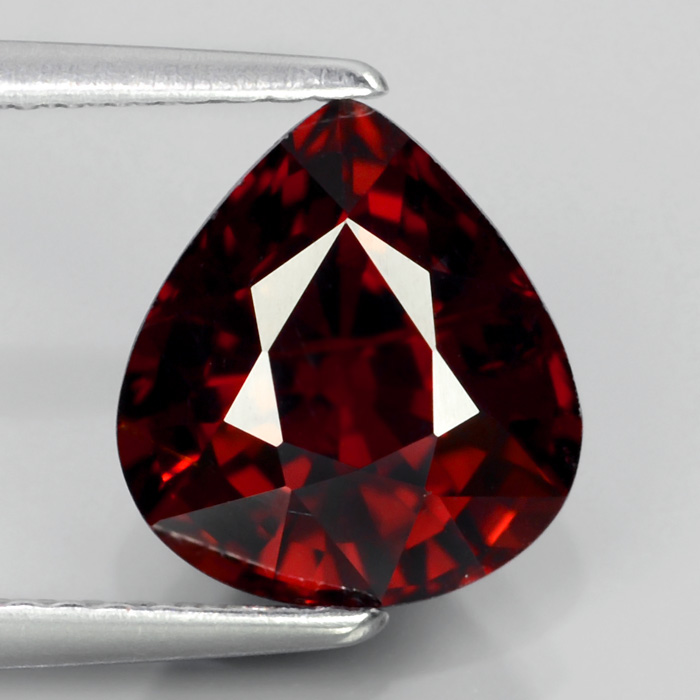 GS007 Pear 3.39Ct 9x8.5mm Natural Orangish Red SPESSARTITE GARNET