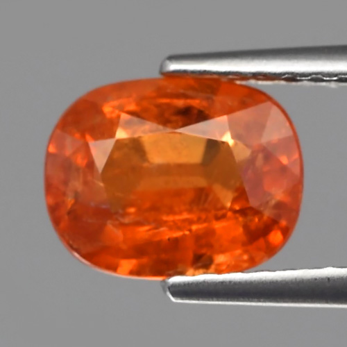 GS011 Cushion 1.93ct 8x6.5mm Natural Unheated Mandarin Orange Spessartite Garnet Namibia