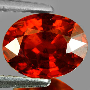 GS100 Oval Natural Orangish Red Spessartine Garnet 2.01Ct