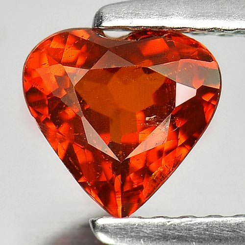 GS103 Heart Shape 0.99ct Natural Gem Orange Spessartine Garnet Namibia