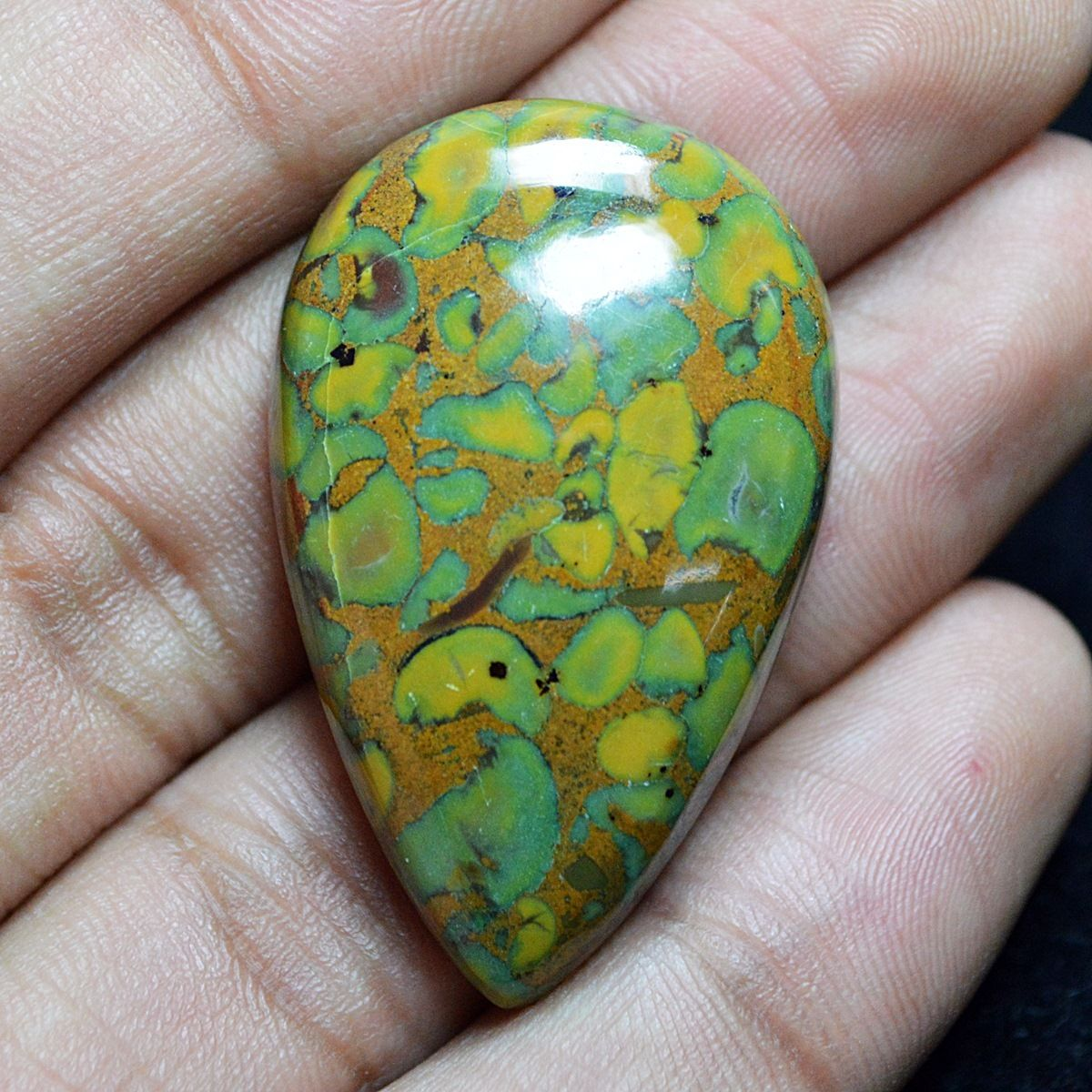 JP106 Pear Cabochon 66ct 40x25mm Natural Jasper, Africa