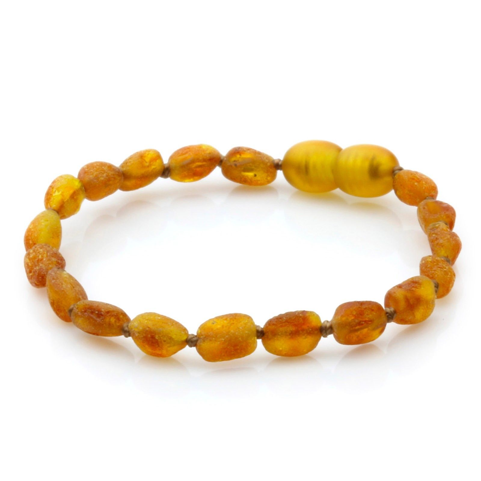 JWG100 Natural Raw unpolished Baltic Amber Bracelet 18cm