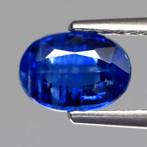 KY106 Oval 1.10ct 7x5mm Natural Unheated Untreated Royal Blue Kyanite SriLanka