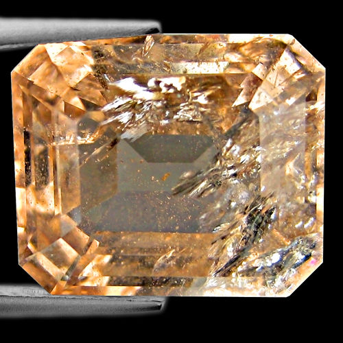 MG006 Octagon 15x16mm 15.10ct Natural Unheated Peach Pink Morganite Brazil